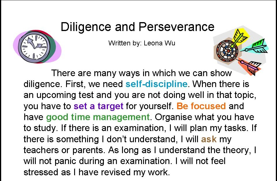 diligence and perseverance Patience doing right patience exercised discouragement burnout resisting discouragement perseverance  and we desire that each one of you show the same diligence so .