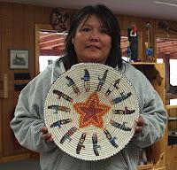 Navajo Basket Weaver Lorraine Black