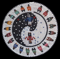 Coyote Placing the Stars Navajo Basket by Peggy Black
