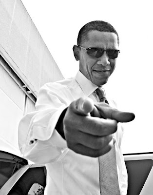Barack Obama pointing finger