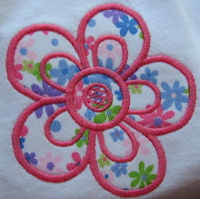 Simple applique flower