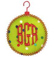 EB round ornament w initials