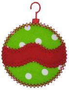 EB wavy vintage applique ornament