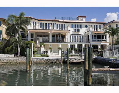 Alonzo Mourning home in Miami Florida