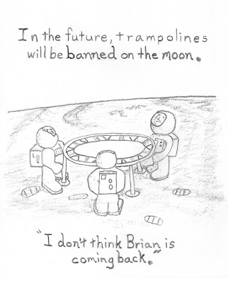 trampoline on the moon