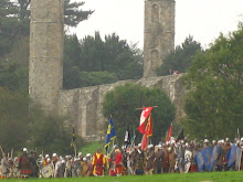 The Saxon shieldwall at Battle Abbey to remember our king , Harold Godwinson