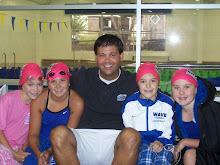 Me, my friends, and my swim coach Brandon