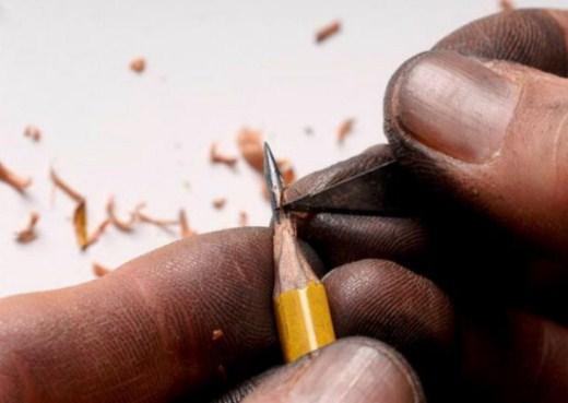 فن النحت على الأقلام الرصاص-الفنون-منتهى
