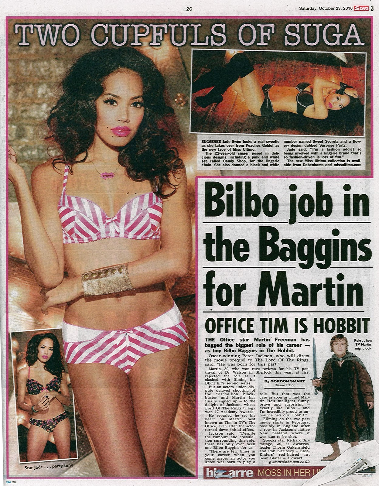 London Sun Page 3 Girls http://jadeewenandthesugababes.blogspot.com/2010/10/jade-ewen-in-sun-page-3-for-miss-ultimo.html