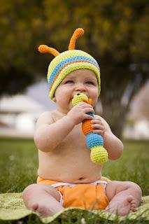 Crochet Baby Hat, Bug Hat, Cute Baby
