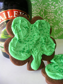 Baileys Shamrock Cookies