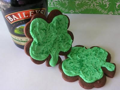 Baileys Shamrock Cookies
