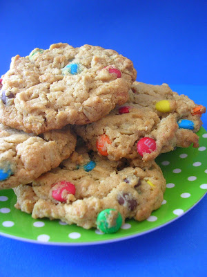 Peanut Butter Oatmeal M&amp;M Cookies