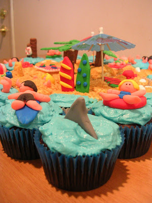 Beach Cupcakes