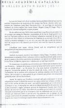 INFORME DE LA REIAL ACEDÈMIA DE BELLES ARTS SANT JORDI