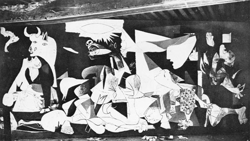 Something between want and desire dora maar 39 s photographs for Mural guernica