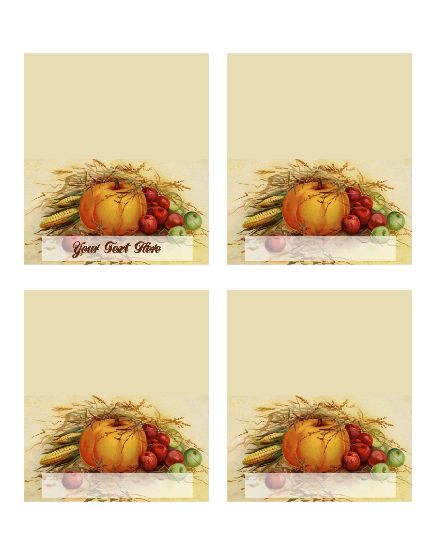 Thanksgiving Place Card Template
