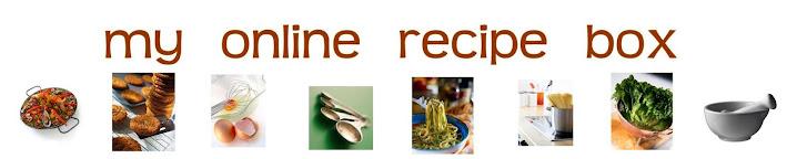 my online recipe box