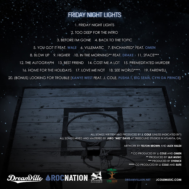 cole+back J.Cole   Friday Night Lights Mixtape (Download Free)