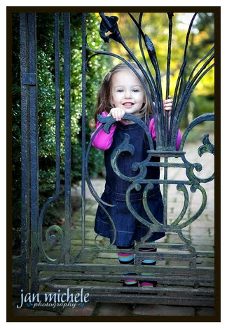 girl with garden gate portrait