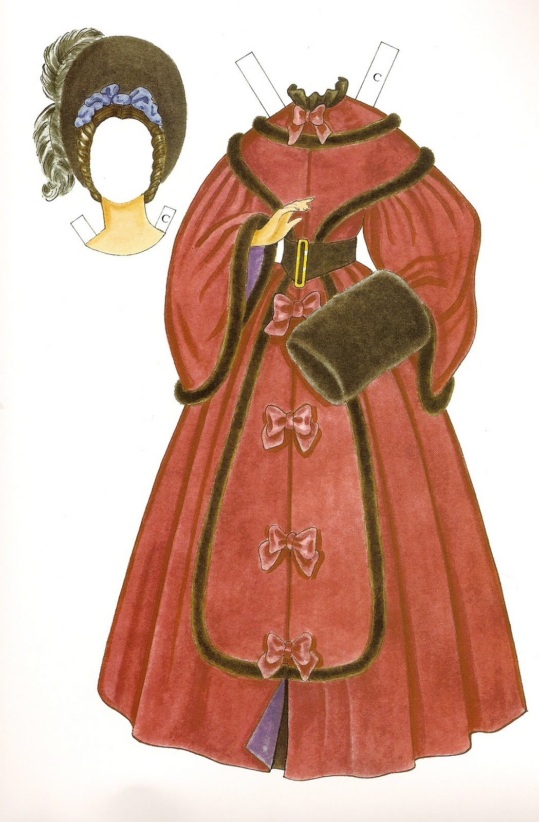 Victorian fashion paper dolls 73