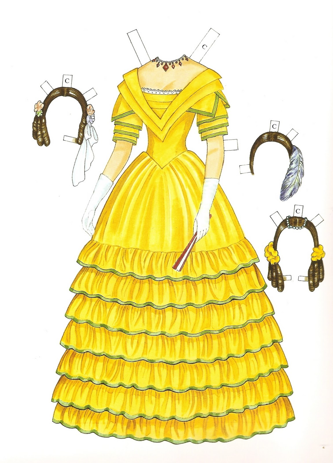 Victorian fashion paper dolls 3