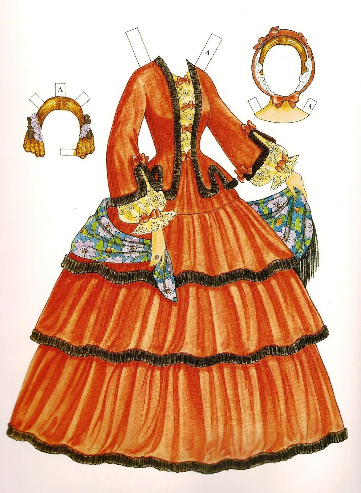 Victorian fashion paper dolls 54