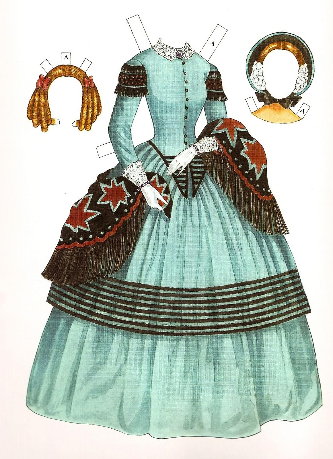 Victorian fashion paper dolls 22
