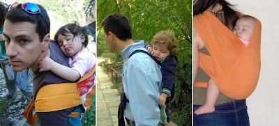 Φωτογραφίες με μωράκια που κοιμούνται στην πλάτη του μπαμπά ή της μαμάς σε μάρσιπο αγκαλιάς