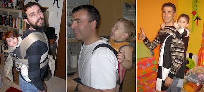 Μπαμπάδες με τα μωρά τους στην πλάτη!