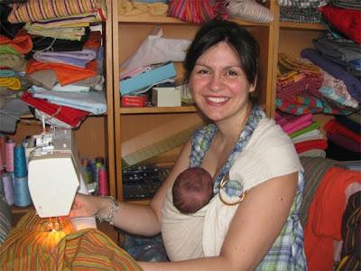 Με το νεογέννητο μωρό μου!