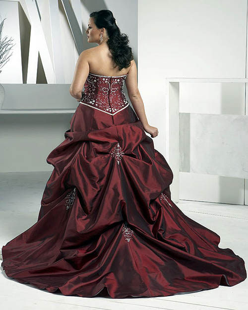 Ask cynthia top wedding gown styles for 2010 for Burgundy wedding dresses plus size