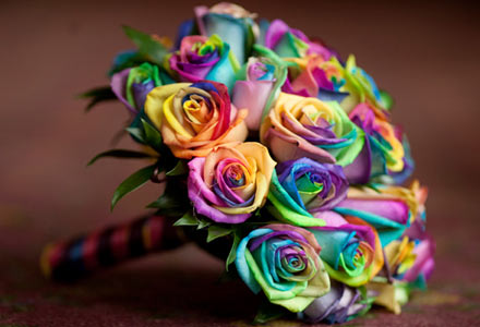 for a rainbow theme don 39t forget the rainbow roses Candy Land Wedding