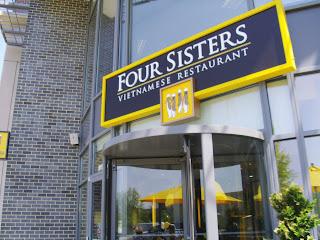exterior of Four Sisters restaurant in Merrifield Virginia