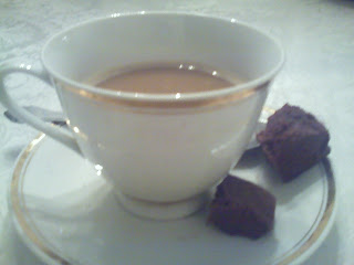 cup of coffee with fudge