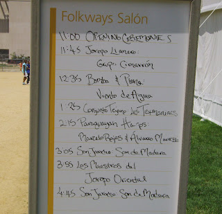 Las Americas music schedule at folklife festival