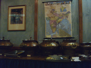 buffet table at Nirvana restaurant in DC