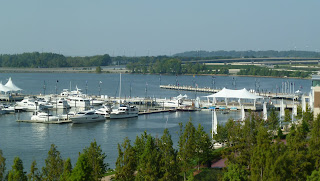 view of Potomac from the Gaylord Hotel atrium