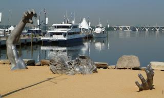 The Awakening statue near marina