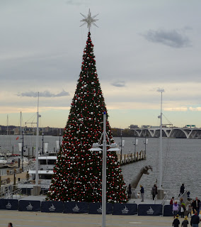 Christmas tree at National Harbor