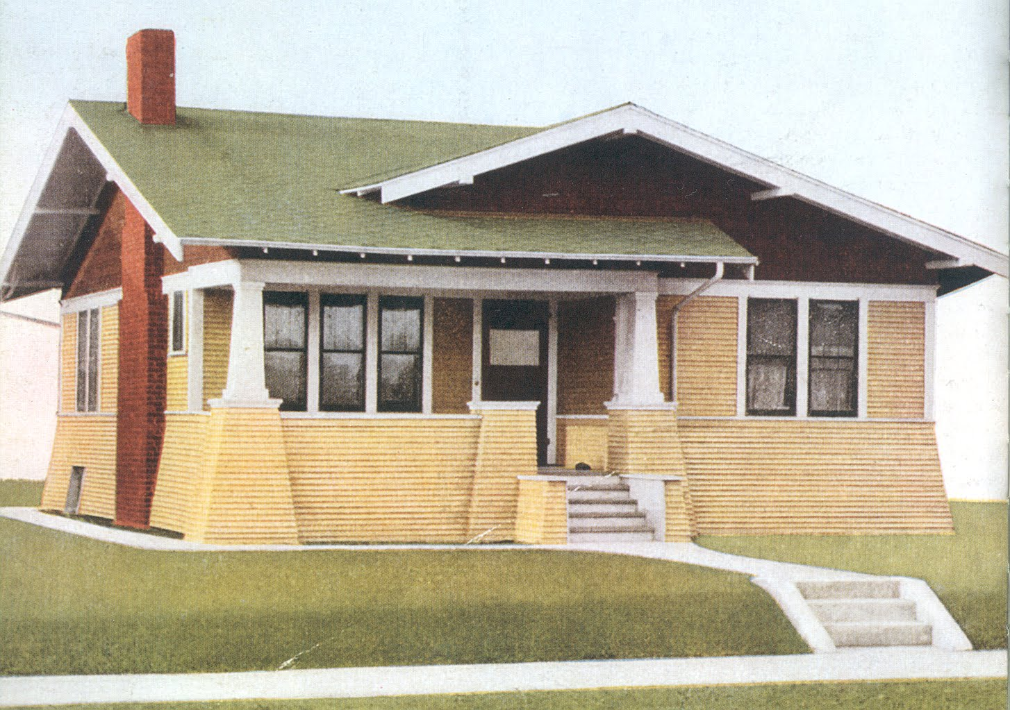 Laurelhurst craftsman bungalow craftsman exterior decision for Craftsman exterior color schemes