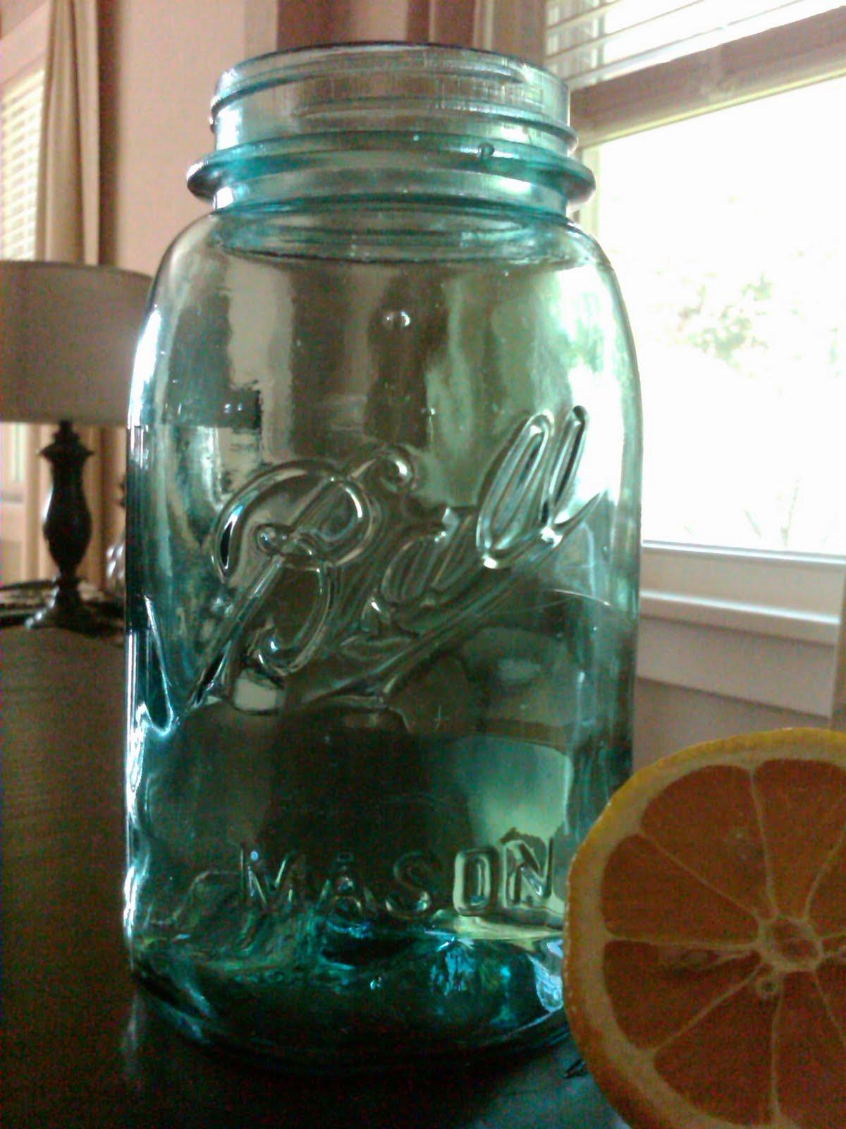 bride and groom garage sale antique blue mason jars. Black Bedroom Furniture Sets. Home Design Ideas