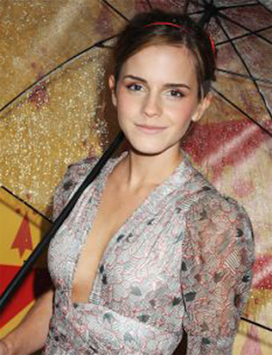 Emma Watson Gets Wet at the London Premiere of Harry Potter and the