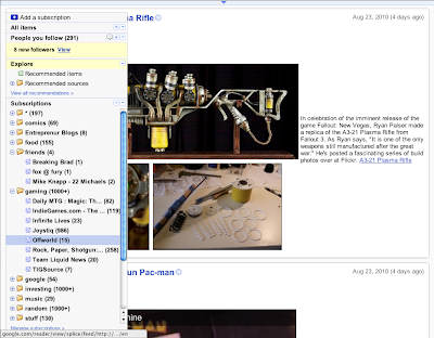 Google Reader Fullscreen