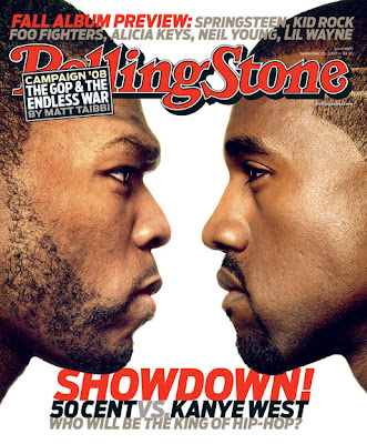 50vkanye+cover 50 Cent vs Kanye West Rolling Stone Cover