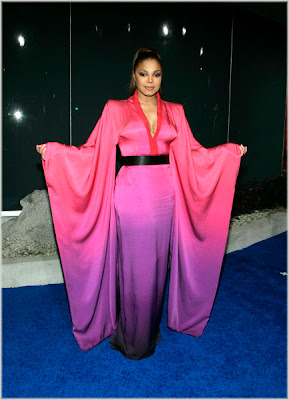 janet++purple+fierceness Janet At Alexander McQueen Launch