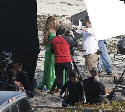 Beyonce On Set Of New Video