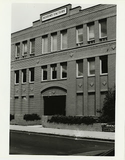 This is a black-and-white photograph of the original History Factory offices.