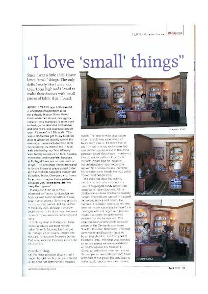 artigo publicado na Doll house & Miniature Scenes