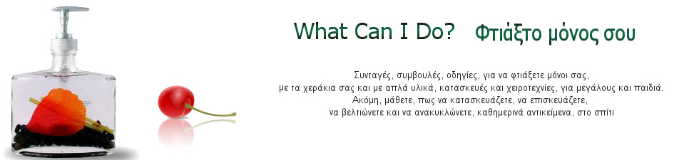 What Can I Do? - ΦΤΙΑΞΤΟ ΜΟΝΟΣ ΣΟΥ